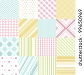 seamless patterns with fabric... | Shutterstock .eps vector #99650969