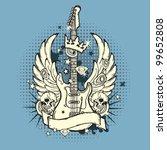 illustration of grunge guitar | Shutterstock .eps vector #99652808