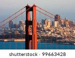golden gate bridge and downtown ...   Shutterstock . vector #99663428