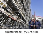 giant construction scaffoldings ... | Shutterstock . vector #99675428