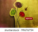 Stock vector vector floral design element background 99676754