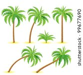Coconut Palms. Illustration On...