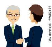 senior experienced salesman... | Shutterstock . vector #99683699
