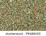 ground dried basil  sweet basil ... | Shutterstock . vector #99688433