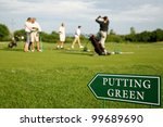 Putting Green Guidance Board I...