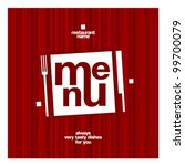 restaurant menu square card... | Shutterstock .eps vector #99700079