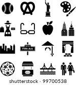 new york icons | Shutterstock .eps vector #99700538