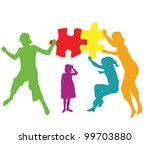 teamwork solution background... | Shutterstock .eps vector #99703880