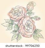 flowers in watercolor   Shutterstock .eps vector #99706250