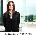 businesswoman in a modern office | Shutterstock . vector #99713213