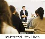 schoolteacher in front of... | Shutterstock . vector #99721646