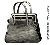 Lady Bag   Vintage Engraved...