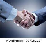 handshake   hand holding on... | Shutterstock . vector #99725228