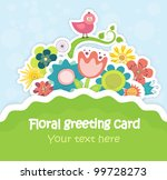 colorful floral greeting card... | Shutterstock .eps vector #99728273