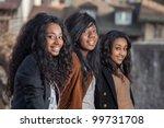 outdoor portrait  of happy... | Shutterstock . vector #99731708