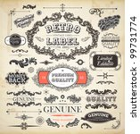 vector set of calligraphic... | Shutterstock .eps vector #99731774