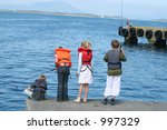 group of children fishing in... | Shutterstock . vector #997329