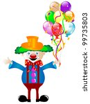 clown with colorful party... | Shutterstock .eps vector #99735803