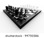 chess pieces on a board on a... | Shutterstock . vector #99750386