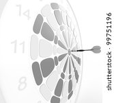 dart board. 3d rendered... | Shutterstock . vector #99751196