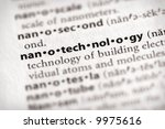 "Selective focus on the word ""nanotechnology"". Many more word photos for you in my portfolio... - stock photo"