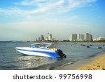 Pattaya beach in the sunshine day, Thailand - stock photo