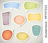 speech bubbles  with... | Shutterstock .eps vector #99757313