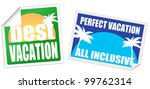 set of vacation labels on white ... | Shutterstock .eps vector #99762314