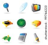 icons for interface. raster...   Shutterstock . vector #99766223