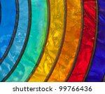 Rainbow Stained Glass Close Up...