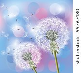 flowers dandelions on light... | Shutterstock .eps vector #99767480