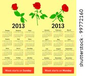 Stylish  Calendar With Flowers...