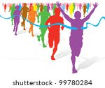 colorful winning athlete | Shutterstock . vector #99780284