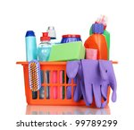 cleaning items in plastic... | Shutterstock . vector #99789299