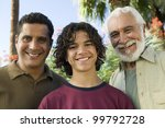 boy with father and grandfather | Shutterstock . vector #99792728