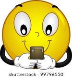 illustration of a smiley using... | Shutterstock .eps vector #99796550