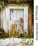 The White Wooden Door On The...