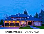 luxury house at night in... | Shutterstock . vector #99799760