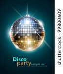 mirror disco ball vector... | Shutterstock .eps vector #99800609