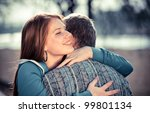 love and affection between a... | Shutterstock . vector #99801134