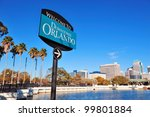 orlando downtown welcome sign... | Shutterstock . vector #99801884