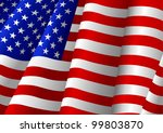 Vector Illustration Of Usa Flag