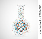 chemical flask of the molecular ... | Shutterstock .eps vector #99806606