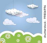 decorative landscape. eps 10   Shutterstock .eps vector #99806996