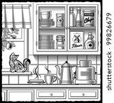 Retro Kitchen Black And White....