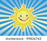 smiling sun | Shutterstock .eps vector #99826763