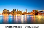 brooklyn view of manhattan  new ... | Shutterstock . vector #99828860