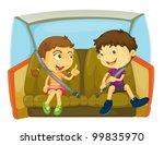cartoon of kids in a car   Shutterstock .eps vector #99835970