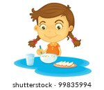 child illustration on a white... | Shutterstock .eps vector #99835994