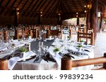 wedding reception decor under... | Shutterstock . vector #99839234
